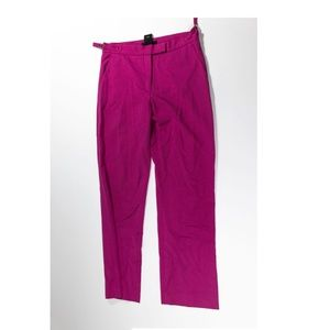 Club Monaco Solid Pink Ankle Cropped Stretch Pants